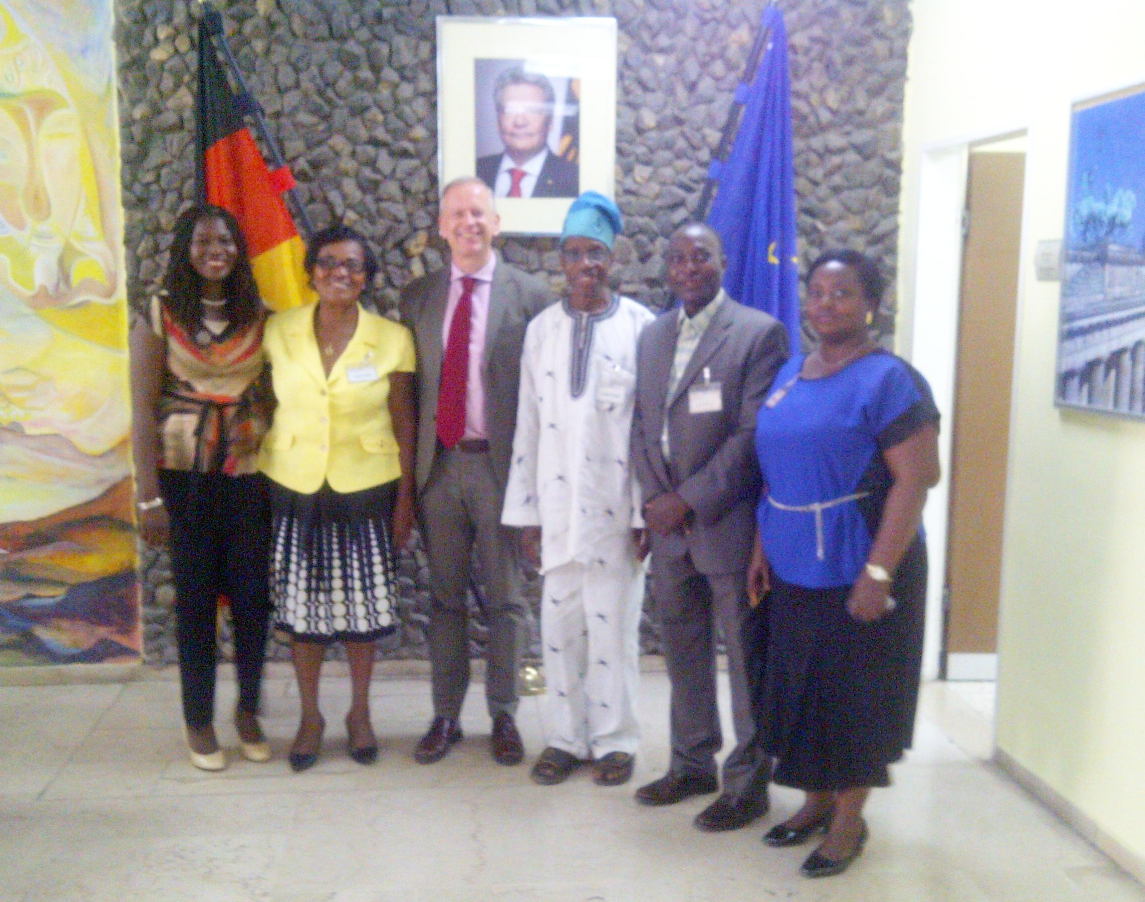 UNAN visit to the German Embassy 19th April 2016